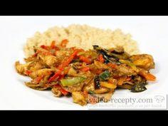 Asijská kuřecí čína - videorecept - YouTube Kung Pao Chicken, Recipies, Food And Drink, Treats, Make It Yourself, Ethnic Recipes, Vietnam, Kochen, Mexico