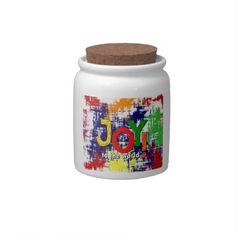 Joy to the World! Candy Jar