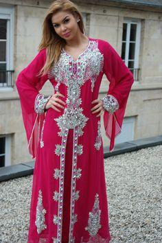 Robe de Dubaï, Modèle Orchidée.