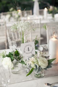 two smaller arrangements for the rectangular tables