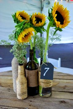FurnitureGlamorous Wine Bottle Centerpieces That Compliments Every Event Under Dollars Unique Twine Wrapped Sunflowers Comely Decorated Wine Bottles Xmas Bottle Centerpieces For Wedding Reception Decorations Under 50 Dollars