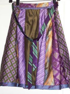 Funky Recycled Neck-Tie Apron  looks like esmerelda's from 'hunchback of notre dame'