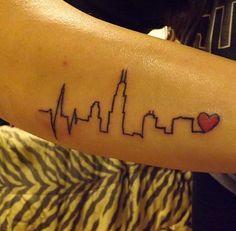 Pin atlanta skyline tattoo 90347jpeg on pinterest for Cleveland skyline tattoo