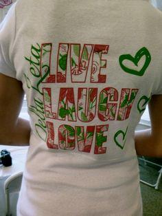 Sisterhood Day shirt - Lilly Pulitzer theme  Delta Zeta - Gamma Xi  New Mexico State University
