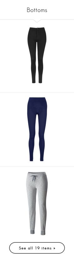 """""""Bottoms"""" by emily-vaughan-1 ❤ liked on Polyvore featuring pants, leggings, jeans, bottoms, calças, black, high rise pants, thick leggings, button down pants and topshop leggings"""