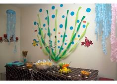 Mermaid Birthday, Girl Birthday, Harvest Festival Games, Birthday Party Decorations, Birthday Parties, Birthday Surprise Kids, Baby Learning Activities, Mermaid Parties, Paper Crafts