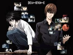 """Yagami Light is an ace student with great prospects, who's bored out of his mind. One day he finds the """"Death Note"""": a notebook from the realm of the Death Gods, with the power to kill people in any way he desires. With the Death Note in hand, Light decides to create his perfect world, without crime or criminals. However, when criminals start dropping dead one by one, the authorites send the legendary detective L to track down the killer, and a battle of wits, deception and logic ensues..."""