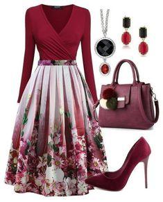 Best Women's Fashion Dresses - Unity Fashion Classy Outfits, Chic Outfits, Pretty Outfits, Dress Outfits, Dress Up, Swing Dress, Cape Dress, Modest Fashion, Fashion Dresses