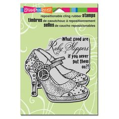 Stampendous Ruby Slippers stamp