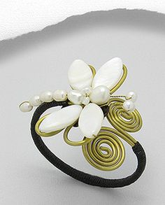 Brass Pearl Dragonfly Cuff Bracelet.  I have this piece, it is beautiful, and well made.  I love it!