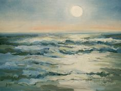 Malibu Surf Sunset Painting - California Seascape Oil Painting, painting by artist Karen Winters