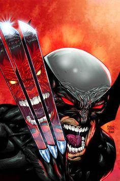 Wolverine Vs Rulk by David Finch (after Todd MacFarlane)
