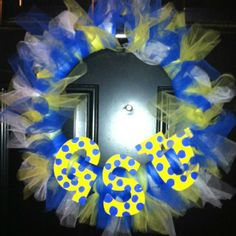 handmade GSU wreath...I want!