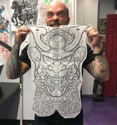 Making some late night Stencils for tomorrow. Skull Sleeve Tattoos, Leg Sleeve Tattoo, Japanese Tattoo Art, Japanese Tattoo Designs, Calgary Tattoo Artists, Geometric Mandala Tattoo, Hanya Tattoo, Dragon Tattoos For Men, Back Piece Tattoo