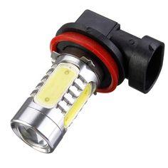 H11 7.5 와트 높은 전원 속 LED 전구 자동차 자동차 광원 프로젝터 DRL 운전 안개 헤드 라이트 램프 제논 화이트 DC12V 자동차 스타일링