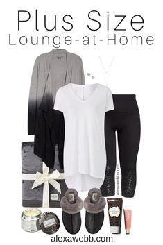 4dbcfa749f3 Plus Size Luxury Lounging Outfit - Plus Size Lounge at Home Outfit - Plus  Size Fashion for Women - alexawebb.com  plussize  alexawebb