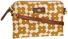 Amazon.com: Orla Kiely Punched Dot Detail Leather Poppy 13SBSPK085-7302-00 Cross Body,Olive,One Size: Clothing