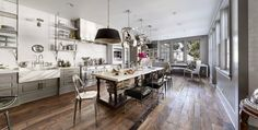 a very unique kitchen, just purchased by Gwenyth Paltrow and Chris Martin
