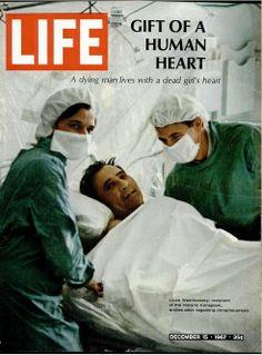 Vintage Life Magazine 1967 December 15 Gift of Human Heart Transplant Opera Life Magazine, History Magazine, Christiaan Barnard, First Heart Transplant, Life Cover, Organ Donation, Medical History, Vintage Magazines, Growing Up