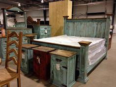 Turquoise wash rustic bedroom furniturehttpwww