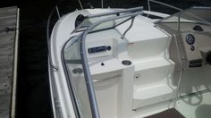 The new Bayliner 642 Overnighter on test day at Boardwalk Marina, Stratford, CT.