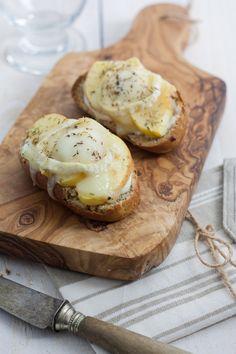 Bruschetta pomme fromage de chèvre