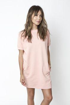 CARA SWEATSHIRT DRESS - ROSE
