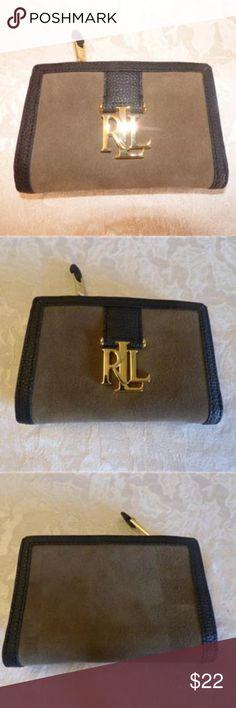 19694f513c Ralph Lauren Carrington Colorblock Compant Wallet Lauren Ralph Lauren  Carrington Colorblock Suede/ Leather Compact Wallet