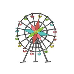 This ferris wheel may be mini-size, but the nostalgia it evokes is paramount. Wear this super cute Tattly on a lovely date to the county fair, a fun outing to the amusement park, or a festive Friday n