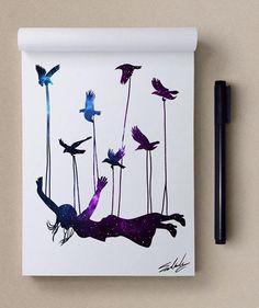 Stars Themed Illustrations by Muhammed Salah