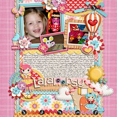 Sew Cute - Jady Day Studio Cindys template - half pack 37 *I scraplifted my title from this layout -