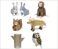 Freebie Printables - Paper Forest Animals. So cute!