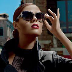 Coco Rocha in Dolce & Gabbana sunnies at Ilori