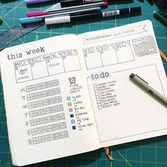 bullet journal weekly spread - ideas and inspiration • ForeverGoodLife