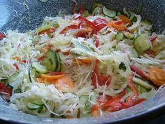 See related links to what you are looking for. My Recipes, Salad Recipes, Healthy Recipes, Hungarian Cuisine, Larder, I Want To Eat, No Bake Cake, Cabbage, Good Food