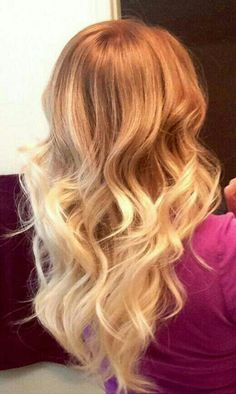 Perfect strawberry blonde ombre