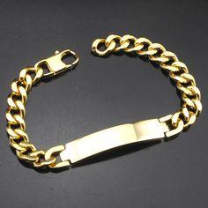 AMUMIU Factory Price!! Men's ID Bracelet