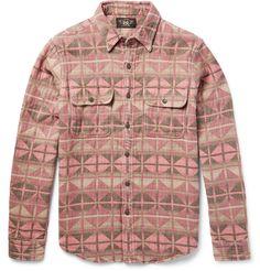 RRL - Slim-Fit Patterned Cotton-Jacquard Shirt