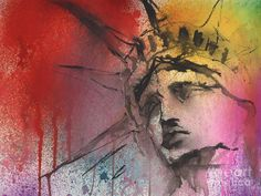 Statue Of Liberty New York Painting Painting by Svetlana Novikova - Statue Of Liberty New York Painting Fine Art Prints and Posters for Sale