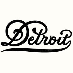 Motor city. #stevewolfdesigns #script #detroit #typography