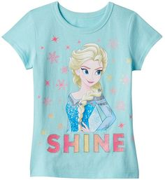 Disney's Frozen Elsa Girls 4-6x Glitter Tee