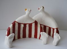Gallerij Source by laufenklaus Paper Mache Clay, Clay Art, Sculptures Céramiques, Sculpture Art, Ceramic Clay, Ceramic Pottery, Clay People, Ceramic Figures, Pottery Sculpture