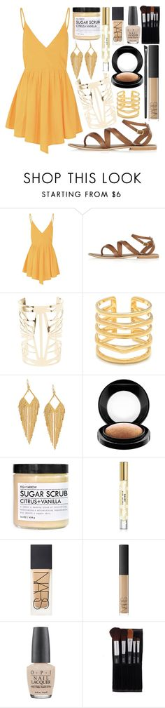 """""""~You Woke Me, Shaking Every Piece of Me~"""" by dreaming-wonderland ❤ liked on Polyvore featuring moda, Glamorous, Topshop, Charlotte Russe, Stella & Dot, Panacea, MAC Cosmetics, Fig+Yarrow, Marc Jacobs e NARS Cosmetics"""