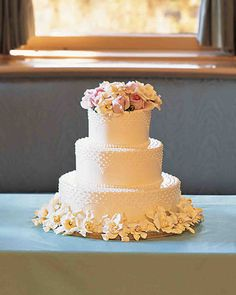When it comes to wedding cakes, buttercream is a go-to option for many couples. It can be easily flavored and colored, spreads easily and lends itself as a canvas for piping or fresh flowers. Not too heavy or sweet, it complements a cake and offers countless options for design. See how our couples have put their own twists on this traditional icing.