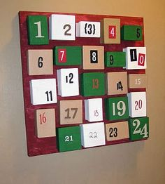 homemade advent calendar - could fill boxes  with left over halloween candy!