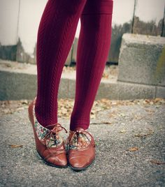 Knee high's and Tapestry brogues |