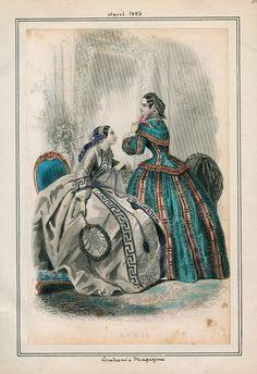In the Swan's Shadow: Graham's Magazine, April 1856  Civil War Era Fashion Plate