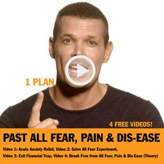 Video 1: Acute Anxiety Relief, Video 2: Solve All Fear Experiment, Video 3: Exit Financial Trap, Video 4: Break Free from All Fear, Pain & Dis-Ease (Theory)