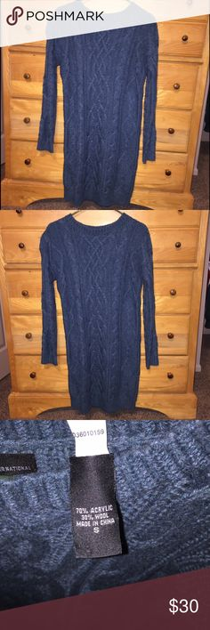 Sweater dress Long sleeve sweater dress. Only worn once! Great for the holidays! Ordered from Victoria Secret catalog Moda International Dresses Long Sleeve