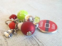 Santa Baby Red and Bright Green Interchangeable by The Jewelry Jar, 12.00